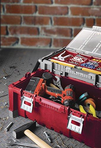 Caja de herramientas color negro y rojo Keter 17187311 pl/ástico