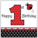 16 Servietten Happy 1st Birthday Marienkäfer