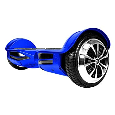 Swagtron T380 Hoverboard Bluetooth Speaker & Lights, Personalize Experience w/Android/iOS App (Blue)