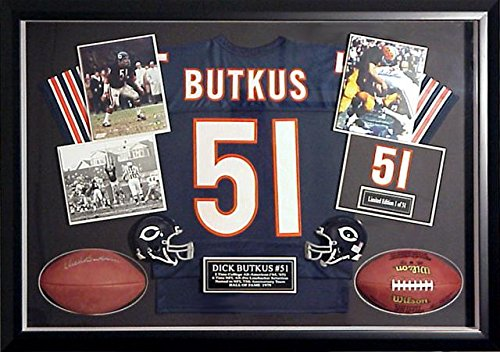 Dick Butkus Chicago Bears Large Autographed Shadow Box - Fanatics Authentic Certified - Autographed (Autographed Shadow Box)
