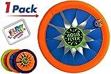 JA-RU Flying Disc Frisbee (Pack of 1) Soft Flying Water Disc Hours of Fun | Item #1031-1