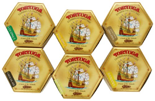 - Tortuga Caribbean Six-Pack Mix, 4-Ounce Cake (Pack of 6)