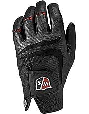 Wilson Staff Men's Grip Plus Golf Glove, Left Hand, Black, Medium