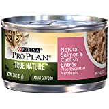 Purina Pro Plan Wet Cat Food, Tue Nature, Natural Salmon & Catfish Entrée, 3-Ounce Can, Pack of 24