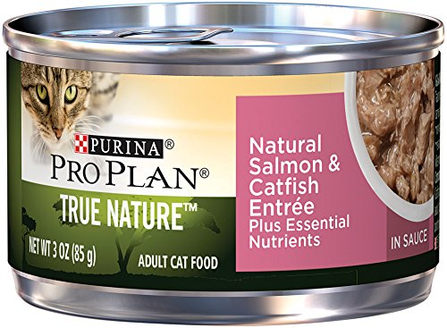 Purina Pro Plan True Nature Natural Salmon & Catfish Entree In Sauce Adult Wet Cat Food - (24) 3 Oz. Pull-Top Cans