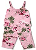 RJC Girls Pink Flamingo Hibiscus 2pc Capri Set Pink 12