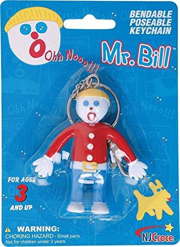 Bill Bendable Keychain Multicolor NJCroce Mr