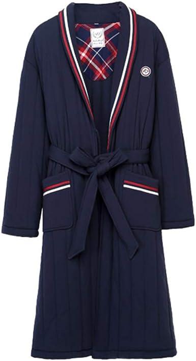 Pijamas Camisa de Manga Larga Gruesa de Invierno Camisa Larga de algodón Acolchada con Bata de algodón: Amazon.es: Ropa y accesorios