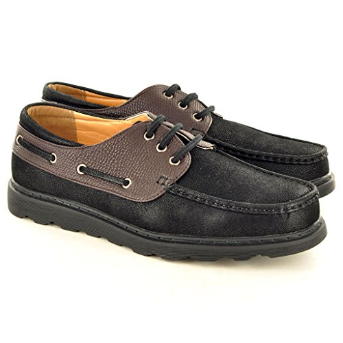 New Men s Deck Boot Spitzen bis Casual Schuhe Black/ Coffee