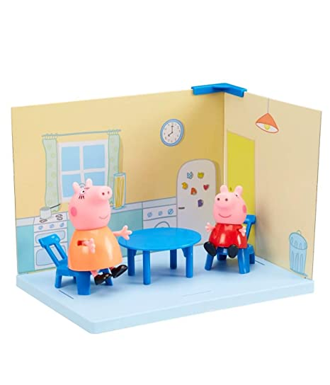 Buy Planet Superheroes Kitchen Playset With Peppa Pig And Mamma