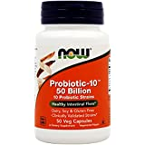 NOW Foods Probiotic-10, 50 Billion, 50 Vcaps , Pack of 3