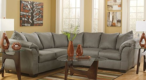 Contemporary Sectional in Cobblestone Finish by Ashley