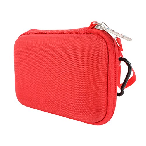 Snap Zero (Khanka Hard Storage Carrying Travel Case Bag for Polaroid ZIP / Snap Touch Mobile Printer w/ZINK Zero Ink Printing Technology - Red)