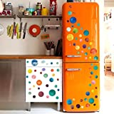 Kingko New Fashion Multi-piece Package Polka Dot Wall Furniture Window Refrigerator Stickers DIY Home Decor Art Wall Circle Decals (B)