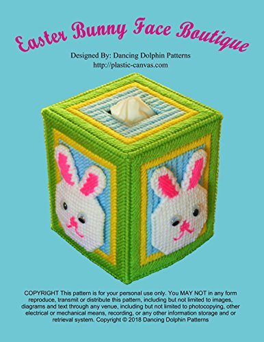 Easter Bunny Face Boutique Tissue Cover: Plastic Canvas (Face Plastic Canvas)