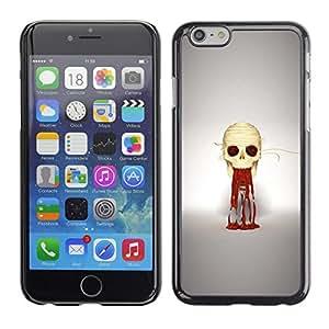 EJOY---Cubierta de la caja de protección la piel dura para el ** iPhone 6 ** --Puke cráneo