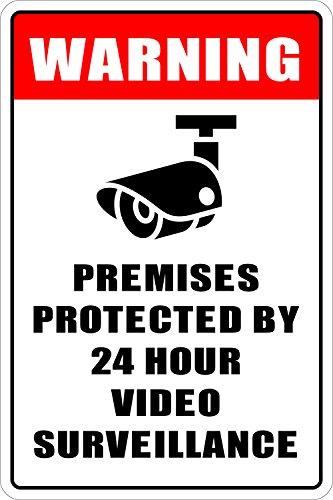Warning Premises Protected Surveillance Novelty