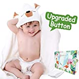 2018 Upgraded Bamboo Baby Hooded Towel-UMIPUA Ultra Soft Baby Bath Towels with Hood for Boys & Girls,Newborn, Infants, Best Baby Shower Gift-35'' X 35'',500GSM