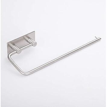 Dispensador de papel autoadhesivo para rollo de cocina, soporte para toalla de papel: Amazon.es: Hogar