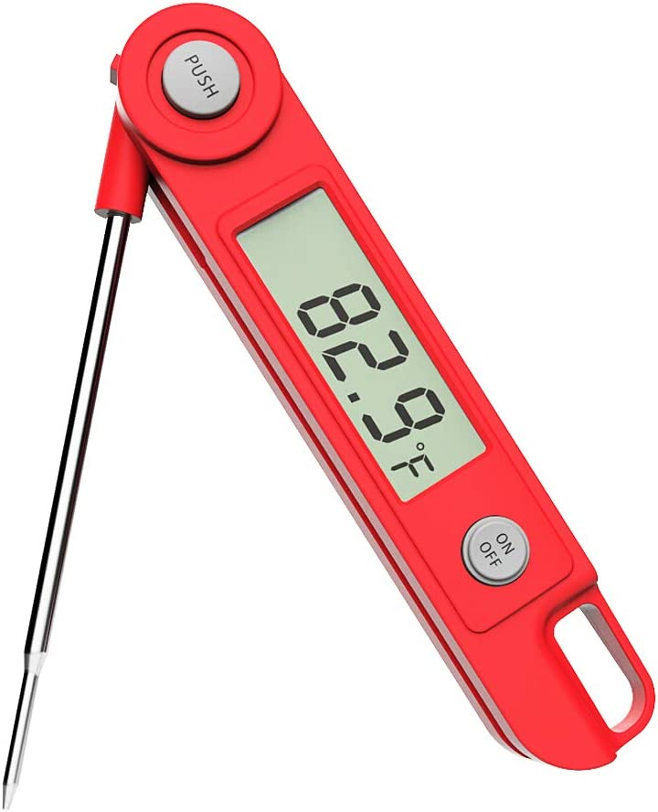 Digital Instant Read Meat Thermometer Poutry Thermometer - Ultra Fast Read, Data Hold-On and Large Reading Number – Best Professional Meat Thermometer for Grilling, BBQ Cooking