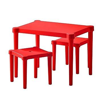 Ikea Kindertisch ikea utter kindertisch mit 2 hockern in rot für drinnen und