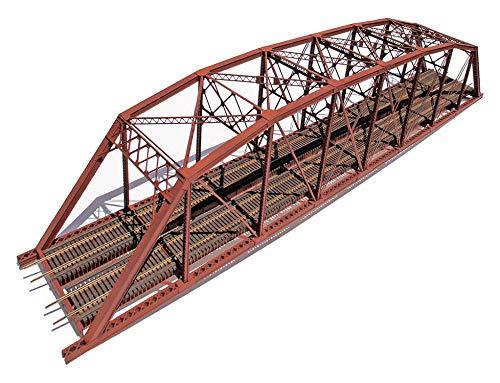 200' Double-Track Heavy-Duty Laced-Parker-Truss Bridge -- Kit - 28-1/4 x 4-3/4