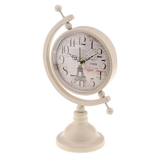 F Fityle Reloj Retro De Mesa Escritorio Despertador Metal para ...