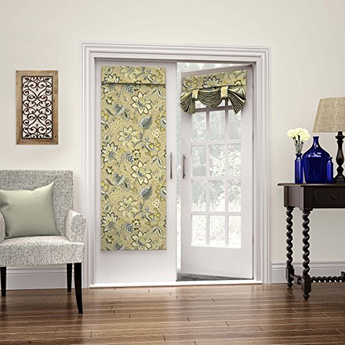 Waverly 15411026068FLX Brighton Blossom 26-Inch by 68-Inch French Single Door Panel, Flax