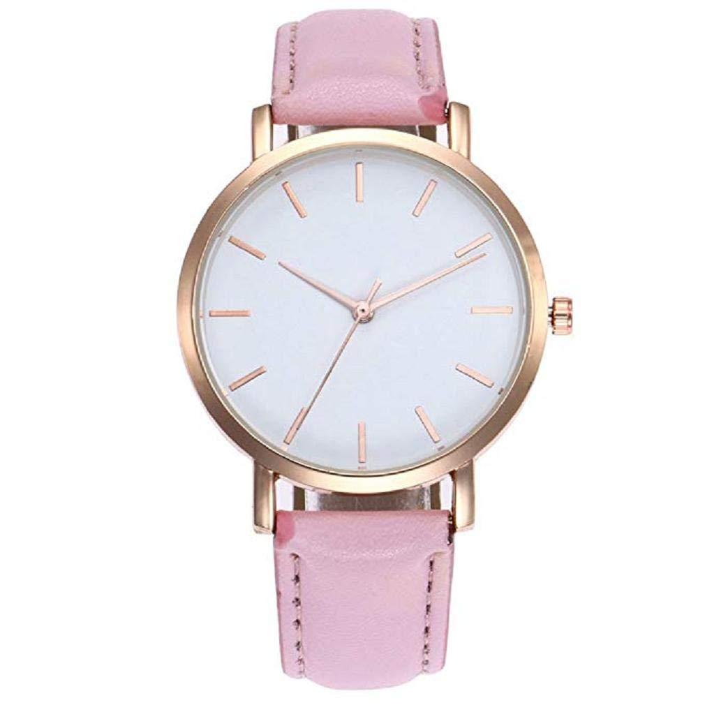 Relojes de Cuarzo para Mujer Señoras para niñas Adolescentes Moda Minimalista Casual Reloj de Pulsera analógico de Cuarzo Redondo Oro Rosa Plateado Dial ...