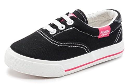 Amazon Com Vecjunia Girls Boys Candy Color Lace Up Slip On School
