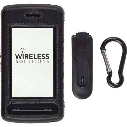 Leather Cu920 - Wireless Solutions 5 Pack -LG CU915, CU920 Clip-on Case - Leather Black