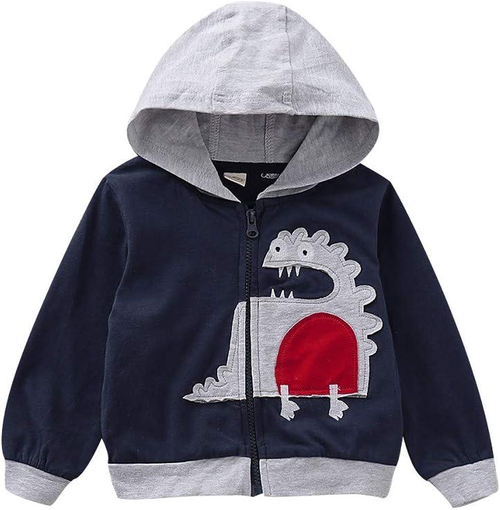 Baywell Baby Kapuzenjacke Jungen M/ädchen Mit Kapuze Rei/ßverschluss Mantel Cartoon Tier Warme Hoodie Oberteile Kleidung Mantel Sweatshirt