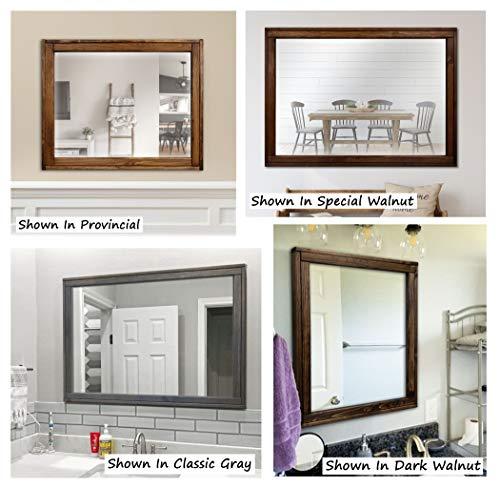 Sydney Rustic Mirror - Vanity Mirror, Bathroom Mirror, Farmhouse Decor, Wood Mirror, - Sydney Custom Bathroom Mirrors