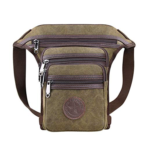 (Genda 2Archer Canvas Multi-pocket Waist Bag Light Hiking Leg)