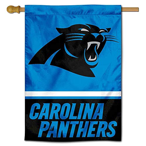 (WinCraft Carolina Panthers Two Sided House Flag )