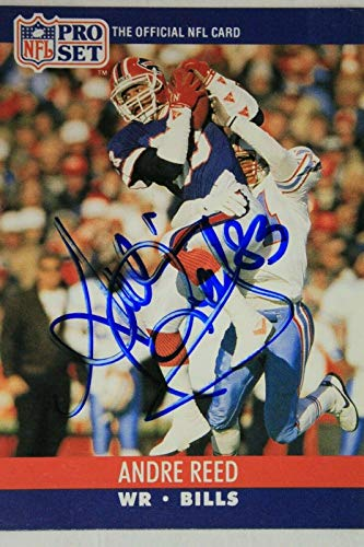 Andre Reed Buffalo Bills HOF Autographed 1990 NFL Pro Set Signed Card #440