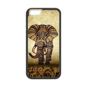 diy zhengCute Vintage Newspaper Elephant Aztec Floral Trunk Snap on Case Cover for Personalized Case for Ipod Touch 5 5th (Laser Technology) Case Screen iPhone -03