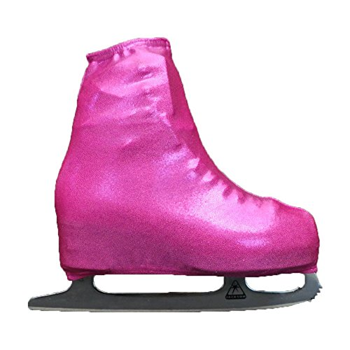 (Ice Skating Metallic Boot Covers by Kami-So Skatewear (Fuchsia, Child))