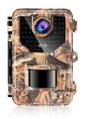 "Sesern Trail Camera 16MP 1080P, IP66 Waterproof Game Camera with 940nm No Glow IR Night Vision to 65ft, 2.4"" Color Screen, 0.2 Trigger Time Motion Activated, 120° Detection Range, Autumn Yellow"