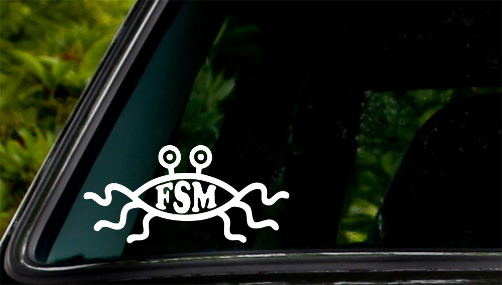 Apex Imports Flying Spaghetti Monster FSM Car Window Vinyl Decal Sticker 5