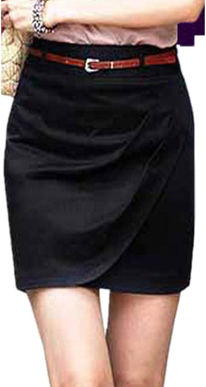 Yying Falda Mujer Short Suave Cómodo Verano Cintura Alta Falda de ...