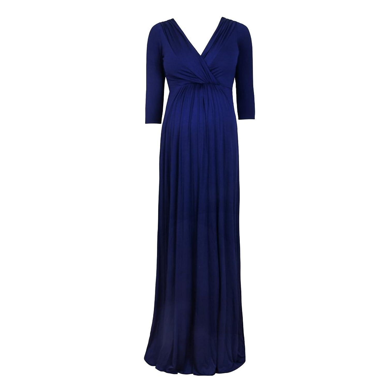 e68458cd2 85%OFF Binhee Vestido De Manga Corta De Mujer Embarazada Vestido De  Maternidad Azul Delgado