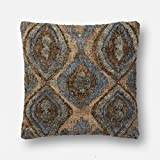 Loloi P0557 Jute, Wool and Cotton Pillow Cover w/Down Fill