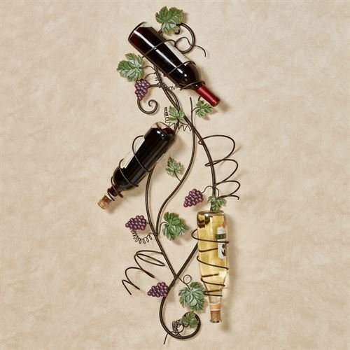 Touch of Class Vining Grapes Wall Wine Bottle Rack Sangria ()