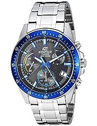 Casio Men's 'Edifice' Quartz Stainless Steel Casual Watch, Color Silver-Toned (Model: EFV-540D-1A2VUDF)