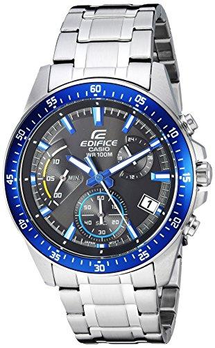 Casio Men's 'Edifice' Quartz Stainless Steel Casual Watch, Color:Silver-Toned (Model: EFV-540D-1A2VUDF)