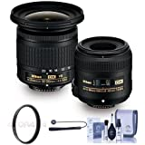 Nikon Landscape Macro Two Lens Kit (Nikkor AF-P DX 10-20/4.5-5.6G VR & Micro 40/2.8G Lenses) - 52mm UV Fiter, Cleaning Kit, Capleash II