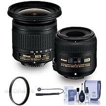 Nikon Landscape and Macro Two Lens Kit (Nikkor AF-P DX 10-20/4.5-5.6G VR & Micro 40/2.8G Lenses) - 52mm UV Fiter, Cleaning Kit, Capleash II
