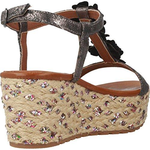 39 Antracite Pelle Donna Corda Con Sandalo In Zeppa Cafènoir Sva7zqx