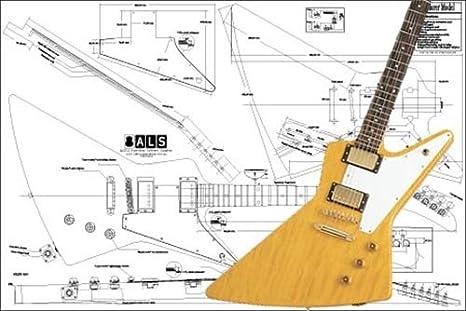 amazon com plan of gibson explorer electric guitar full scale rh amazon com Gibson Les Paul Wiring Diagram Gibson Guitar Wiring